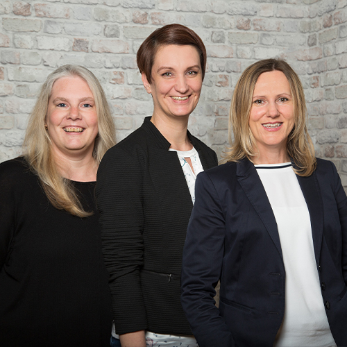 PraxisLeasing GmbH – Back Office: Anna Gutter, Kerstin Hölscher, Stefanie Peter
